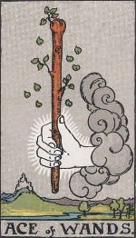 Tarot Card Ace of Wands