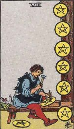 Tarot Card: Eight of Pentacles