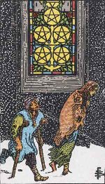 Tarot Card: Five of Pentacles