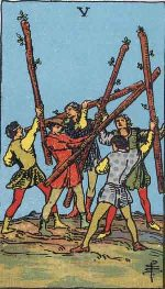 Tarot Card: Five of Wands