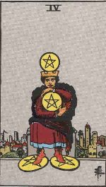 Tarot Card: Four of Pentacles