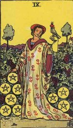 Tarot Card: Nine of Pentacles