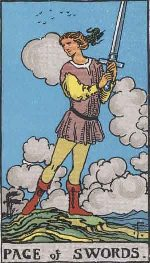 Tarot Card: Page of Swords