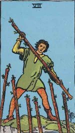 Tarot Card: Seven of Wands