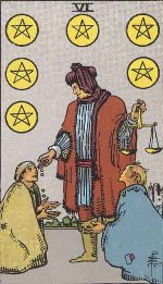 Tarot Card: Six of Pentacles