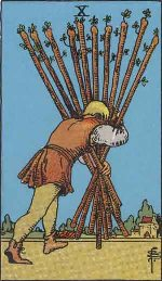 Tarot Card: Ten of Wands