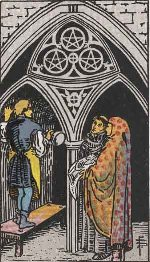 Tarot Card: Three of Pentacles