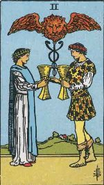Tarot Card: Two of Cups