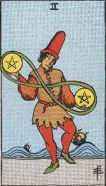 Tarot Card: Two of Pentacles